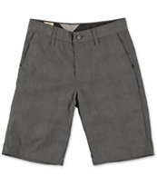 Volcom Boys Frickin Charcoal Plaid Chino Shorts