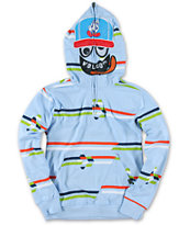 Volcom Boys Half Upper Over Light Blue Face Mask Hoodie