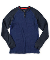 Volcom Boys Henry Long Sleeve Henley Thermal Shirt