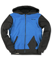 Volcom Boys Higgens Black & Blue Zip Up Hoodie