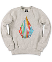 Volcom Boys Landon Grey Crew Neck Sweatshirt