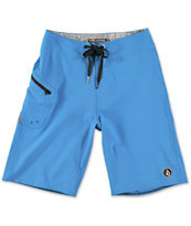 Volcom Boys Lido Solid Blue Board Shorts
