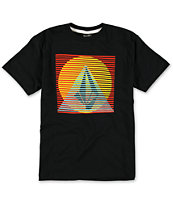 Volcom Boys Line Pyramid Black Tee Shirt