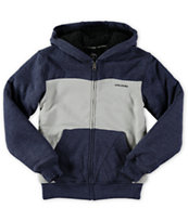 Volcom Boys Logan Lined Zip Up Hoodie