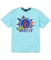 Volcom Boys Pasted Blue Tee Shirt