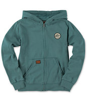 Volcom Boys Programmer Light Blue Zip Up Hoodie