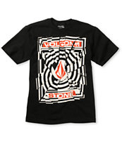 Volcom Boys Splice Black Tee Shirt