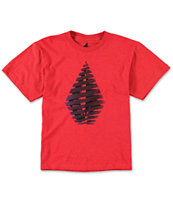 Volcom Boys Streamer Red Tee Shirt
