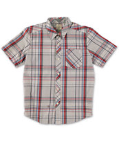 Volcom Boys Weirdoh Plaid Button Up Shirt