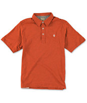 Volcom Boys Wowzer Red Polo Shirt