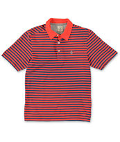 Volcom Boys Wowzer Red Stripe Polo Shirt