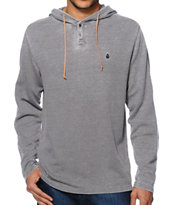 Volcom Burnt Burnout Hooded Henley Thermal Shirt