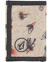 Volcom Circle Patch Oatmeal Trifold Wallet