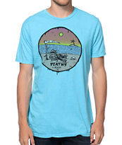 Volcom Deaths A Beach Blue Tee Shirt