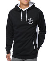 Volcom Domino Black & White Hydro Tech Fleece Hoodie