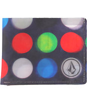 Volcom Dot Mess Black Bifold Wallet