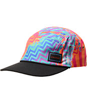 Volcom Drizz Multicolor Striped 5 Panel Hat