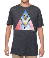 Volcom Emily Hoy Featured Artists 5 Heather Black Tee Shirt