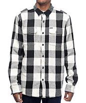 Volcom Ender Black & White Thermal Flannel Shirt