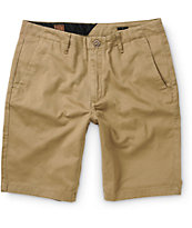 Volcom Faceted Dark Khaki Chino Shorts