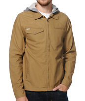 Volcom Faceted Dark Khaki Hooded Jacket