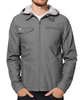 Volcom Faceted Grey Hooded Jacket