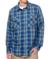 Volcom Faderton Blue Plaid Flannel Shirt