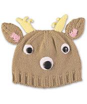 Volcom Fawntimes Brown Reindeer Beanie