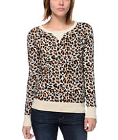 Volcom For Keeps Cheetah Print Sweater