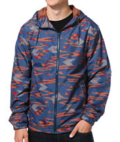 Volcom Forwarder Print Indigo Windbreaker Jacket