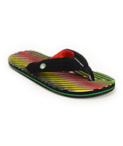 Volcom Fraction Rasta Sandals