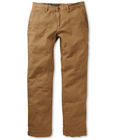 Volcom Frickin Dye Dark Khaki Regular Stretch Chino Pants