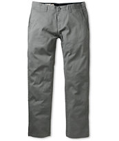 Volcom Frickin Modern Fit Pewter Stretch Chino Pants