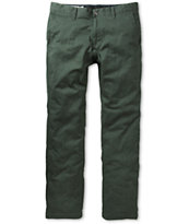 Volcom Frickin Modern Slim Fit Green Chino Pants