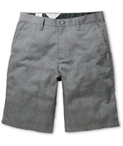 Volcom Frickin Plaid Charcoal Chino Shorts