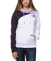 Volcom Girls Aluka White Pullover Hydro Tech Fleece Jacket