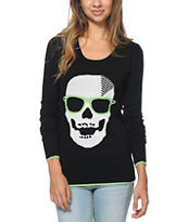 Volcom Girls Bad Toda Stone Black Sweater