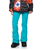 Volcom Girls Battle Teal 10K Snowboard Pants 2014