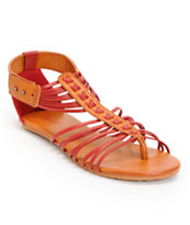 Volcom Girls Be Nice Red Sandals