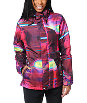 Volcom Girls Clove Ins 2013 Transplaidicle 10K Snowboard Jacket