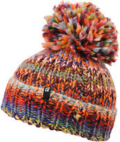 Volcom Girls Don't Think Twice Rainbow Beanie