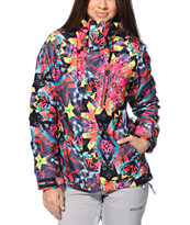 Volcom Girls Free Black 15K Insulated Snowboard Jacket 2014