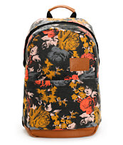 Volcom Girls Going Back Floral Laptop Backpack