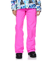 Volcom Girls Logic Pink 8K Snowboard Pants 2014