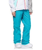 Volcom Girls Logic Teal 8K Snowboard Pants 2014