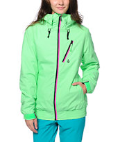 Volcom Girls Panorama Green 8K Snowboard Jacket 2014