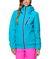 Volcom Girls Panorama Teal 8K Snowboard Jacket 2014
