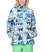 Volcom Girls Shore White 15K Snowboard Jacket 2014