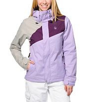 Volcom Girls Slogan Lavender & Grey 10K Snowboard Jacket 2014