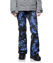 Volcom Girls Species Black Floral Print 15K Snowboard Pants 2014
